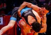 """Alejandro, """"Calabaza"""" Valdés (65kg), es el más estable gladiador del estilo libre en el presente ciclo."""
