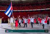 Mijaín y Yaimé, portaestandartes de la comitiva antillana y de nuestro espíritu olímpico.