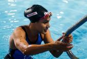 Elisbet Gámez intenta abrirse camino en el estilo más competitivo de la natación.