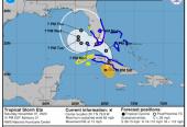 La proyección de la Tormenta tropical ETa en las próximas horas.