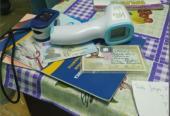 Kit de trabajo del personal de enfermería que participa en la intervención con el candidato vacunal Abdala en la capital.