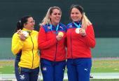 Laina festeja su primer título y lA clasificación olímpica.