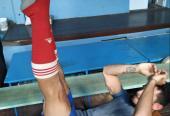 Los ejercicios de imitaciones en el gimnasio también son determinantes en la preparación. Foto: Del autor.