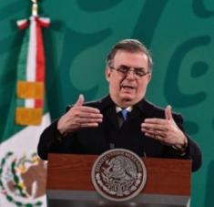 Canciller mexicano Marcelo Ebrard.