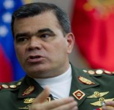 Ministro de defensa venezolano, Vladimir Padrino.