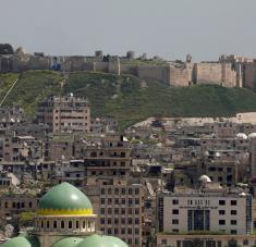 La defensa antiaérea siria logró derribar la mayoría de los proyectiles. Foto: Reuters.