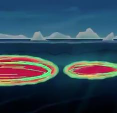 Una cantidad sin precedentes de calor penetra en las gélidas aguas del Ártico, provocando el calentamiento del hielo desde abajo, sostienen los científicos. Foto: twitter.com / @Scripps_Ocean