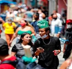 El gigante suramericano alcanzó los 11.019.334 casos confirmados y  265.411 decesos por coronavirus. Foto: EFE