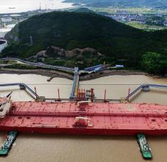 Un buque aljibe en el puerto de Ningbo Zhoushan, provincia de Zhejiang, China. Foto: Reuters.