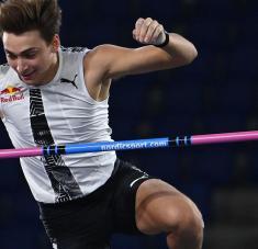 Con su salto de 6.15 en Roma, Duplantis atesora los tres mejores registros de todos los tiempos.