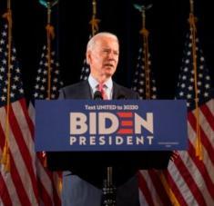 El exvicepresidente Joe Biden buscará arrebatarle la presidencia de EE.UU. a Donald Trump. Foto: EFE