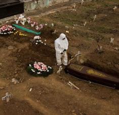 Con 159.884 decesos Brasil es el segundo país con más decesos por la Covid-19 en el mundo. Foto: Reuters