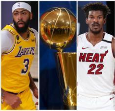 Lakers y Heat se ven las caras por primera vez en finales. Apuesta de juego repartido versus dupla más contundente de la NBA.