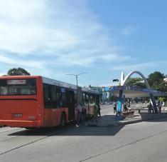 Reanudación del transporte público en la capital, con motivo del inicio de la primera fase de la etapa de recuperación pos-COVID-19, en La Habana, Cuba, el 3 de julio de 2020. Foto tomada de Facebook