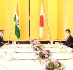 Los dos titulares de Relaciones Exteriores intercambiaron opiniones sobre cuestiones regionales y mundiales de interés mutuo. Foto: Twitter @DrSJaishankar