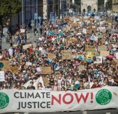 Jóvenes de Alemania, Argentina, España y diversas partes del mundo reclaman este viernes una mayor acción de los Gobiernos para reducir el impacto del cambio climático. Foto: @fff_muc