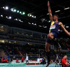Juan Miguel, pese a su juventud, es uno de los candidatos más serios al oro olímpico en la longitud. posee tope personal de 8.68 metros.