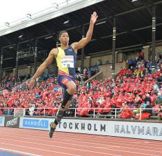 Juan Miguel es uno de los serios candidatos al cetro olímpico en longitud.