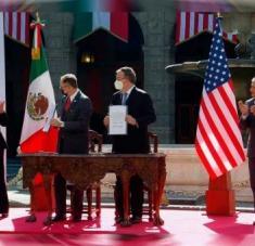 """Kamala Harris afirmó que junto con México están entrando en una """"nueva era"""" tras la reunión con el presidente mexicano. Foto: Excelsior"""