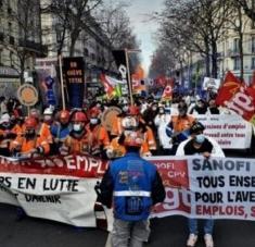 La CGT indicó que unos 20.000 trabajadores se manifestaron en París, Marsella, Toulouse, Nantes, Lyon, Saint Etienne y Rennes. Foto: La Izquierda Diario