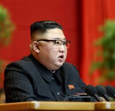"""Un portavoz del Ministerio de Exteriores norcoreano lamentó que Joe Biden tenga la intención de seguir con la política """"hostil"""" hacia Pionyang. Foto: KCNA / Reuters"""
