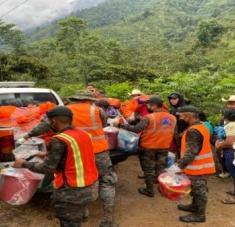 A raíz de las precipitaciones, durante 2021 en Guatemala 4.237 personas se vieron obligadas a evacuarse. Foto: Conred