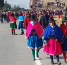 Protesta indígena en Ecuador. Imagen de archivo/RHC