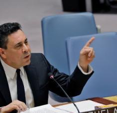 El embajador venezolano ante las Naciones Unidas, Samuel Moncada.