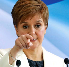 a jefa del gobierno escocés, Nicola Sturgeon, aseguró hoy que el Brexit acrecienta las ansias independentistas de su país