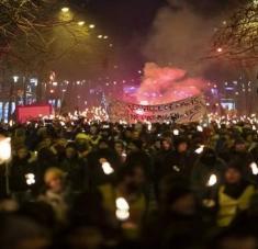 La administración de Macron ha transcurrido entre huelgas y manifestaciones. Foto: EFE