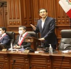 En su intervención, Vizcarra instó a la unidad entre los peruanos y a apartar cualquier diferencia que exista para continuar trabajando en temas importantes. Foto: Congreso