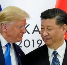 El presidente de EE.UU., Donald Trump, y su par chino, Xi Jinping, en el marco de la cumbre G20 en Osaka, Japón, 29 de junio de 2019. Foto: AFP.