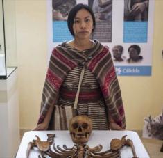En la imagen el hallazgo arqueológico. Fotos: AFP.