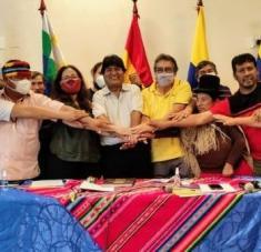 El fin de semana, organizaciones sociales de varios países suramericanos, allanaron el camino para la creación de la nueva entidad de integración. Foto: Twitter: Evo Morales