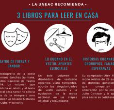 La sugerencia de estos días, lanzada a través de su página web oficial, es de los títulos Herminia Sánchez. Teatro de fuerza y candor; Historias cubanas de cronopios, famas y esperanzas; y Lo cubano en el vestir: apuntes esenciales.