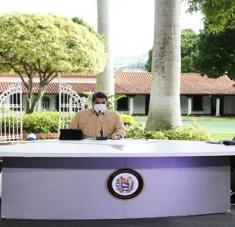 El presidente Maduro reiteró que el destino del país lo decide el pueblo en las urnas y en paz. Foto: @PresidencialVE