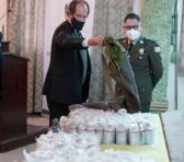 Los pertrechos antidisturbios mostrados fueron hallados en depósitos de la Policía Boliviana. Foto: Télam