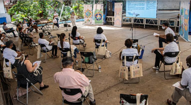 En febrero, representantes de las instituciones cubanas acordaron, junto al equipo de Transcultura, una ruta común de trabajo para el año 2021. Foto: Unesco.