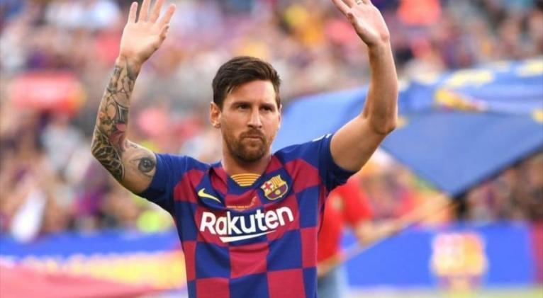 El astro argentino Leo Mess, durante un partido disputado con su todavía equipo, el FC Barcelona.