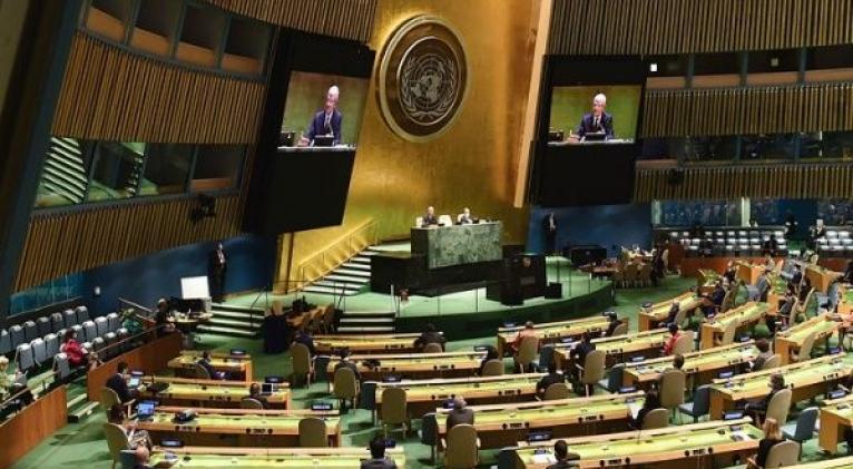 Los debates del actual periodo de sesiones de la Asamblea General han estado centrados en los desafíos del cambio climático y la pandemia de Covid-19. Foto: Noticias ONU