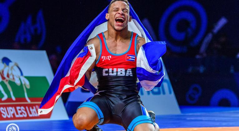 Borrero constituye después de Mijaín, la carta dorada más sólida de la lucha cubana. Foto: United World Wrestling.