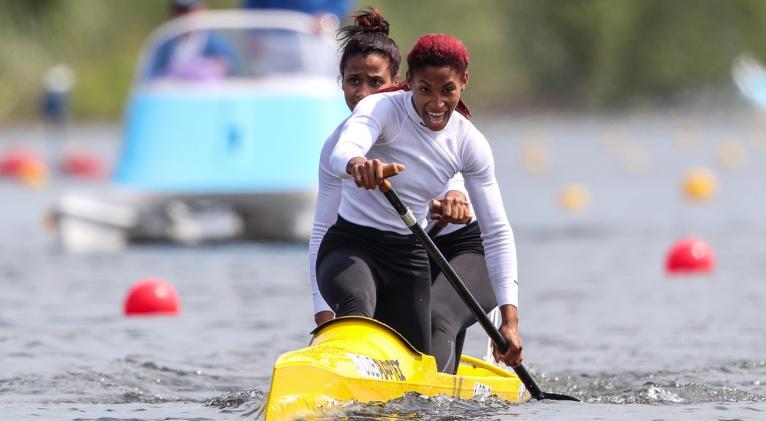 Cirilo y Nuevo estamparon el mejor crono de todas las canoas a 200 metros.