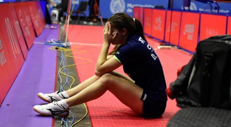 Daniela reflexiona cargada de emoción sobre su clasificación olímpica. Foto: Unión Latinoamericana de Tenis de Mesa.