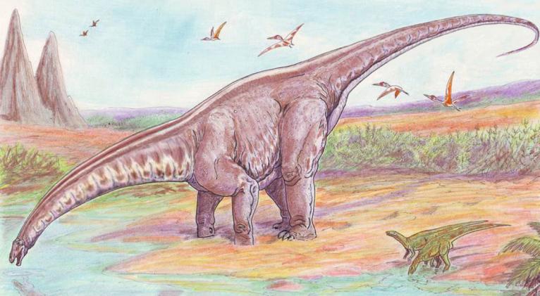 Fue bautizado como 'Aratasaurus museunacionali' en honor al Museo Nacional, que sufrió un voraz incendio en 2018. Imagen ilustrativa/ru.wikipedia / ДиБгд / dominio público