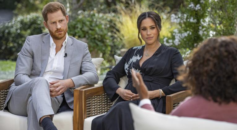 La esposa del príncipe Enrique concedió una entrevista a Oprah Winfrey en la que compartió detalles de cómo se sintió al ser parte de la corona británica. Foto: AP.
