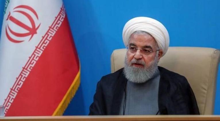 El mandatario iraní recordó que EE.UU. fue el primero en atropellar el Acuerdo Nuclear con su salida unilateral. Foto: EFE