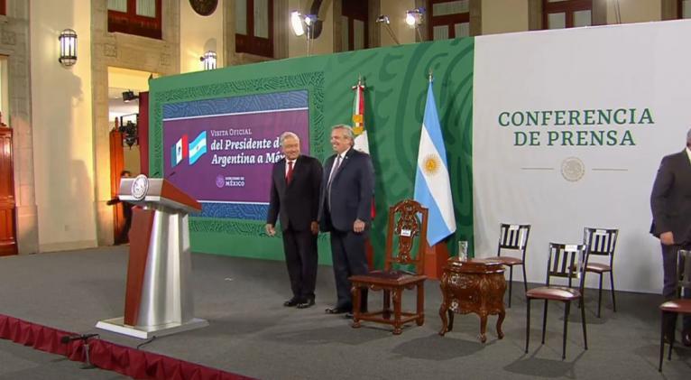 Conferencia de prensa del presidente de México, Andrés Manuel López Obrador, con el presidente de Argentina, Alberto Fernández, México, 23 de febrero de 2021