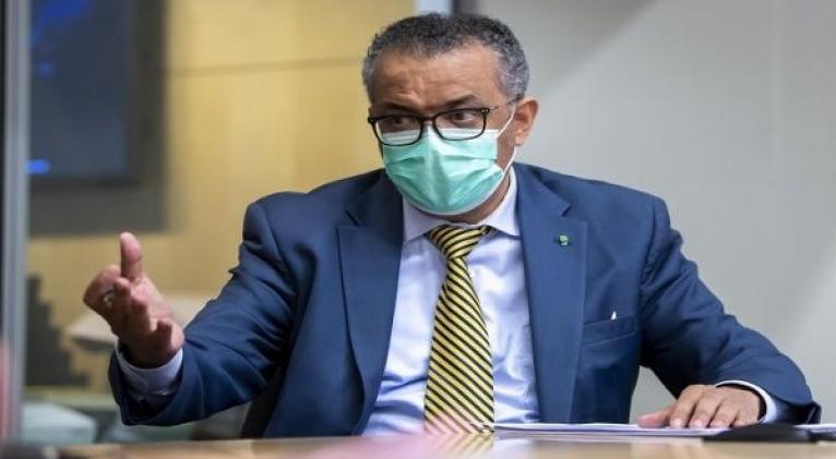 """El máximo coordinador de la OMS, Tedros Adhanom Ghebreyesus dijo el jueves que """"nos estamos acercando al nivel más alto de infecciones que hemos visto hasta ahora en la pandemia"""". Foto: EFE"""