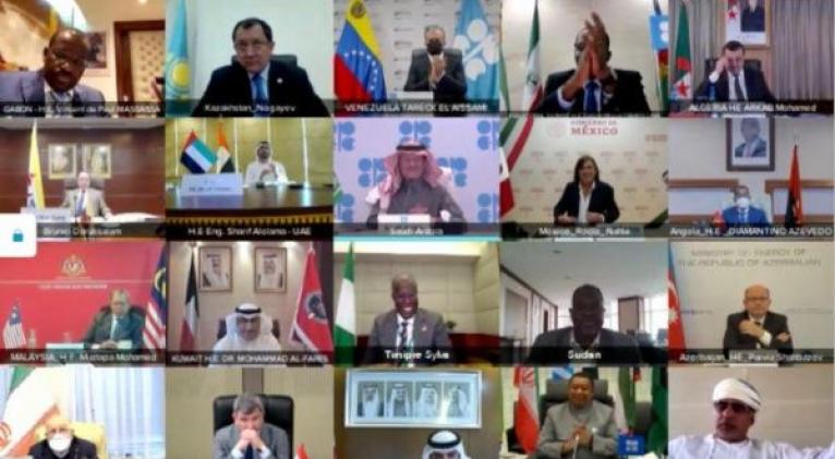 OPEP+ logra acuerdo histórico para estabilización del mercado petrolero en 14° Reunión Ministerial. Foto: Official OPEC account.