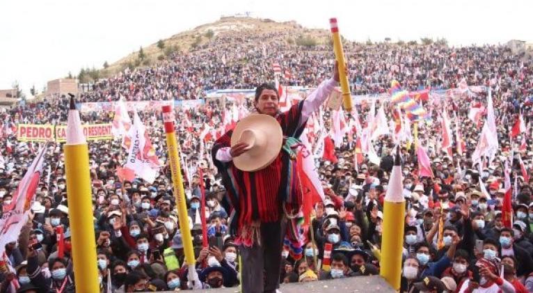 """Llamado popularmente como """"El Profesor"""", Pedro Castillo se prepara para la segunda vuelta electoral contra Keiko Fujimori. Foto: Perú Libre"""